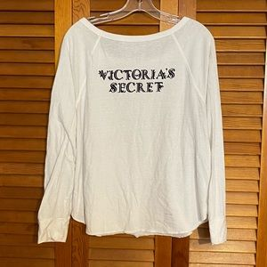 Victoria's Secret white sleep shirt - Size L